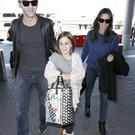Courteney Cox with Johnny McDaid and daughter Coco Arquette