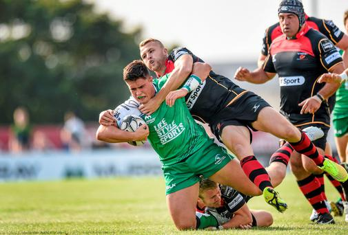 Connacht's Dave Heffernan says he is beginning to relish his new role as a hooker after switching from back-row. Photo: Matt Browne / SPORTSFILE