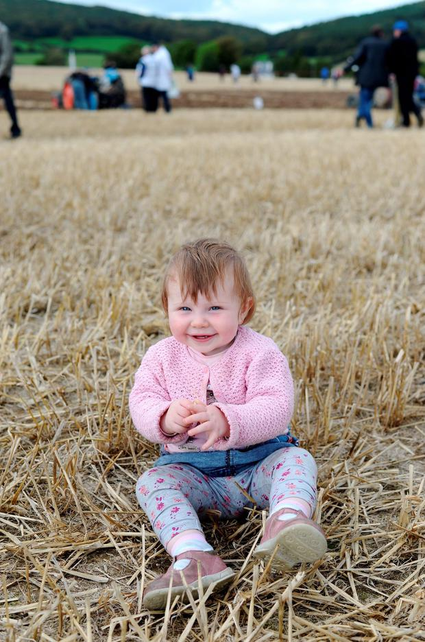 Emma Quinn, 13 months, from Newmarket-on-Fergus, Co. Clare enjoying the fresh air. Picture: Caroline Quinn