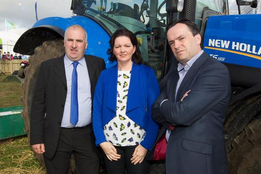 Brian and Norma Rohan and Eugene Hogan who have all lost family members to farming accidents