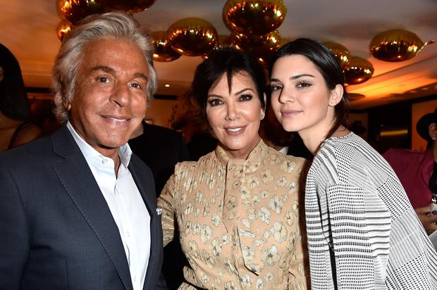 (L-R) Giancarlo Giammetti, Kris Jenner and Kendall Jenner attend Buro 24/7 Fashion Forward Initiative Presenting Natalia Alaverdian, Founder and Creative Director of A.W.A.K.E.