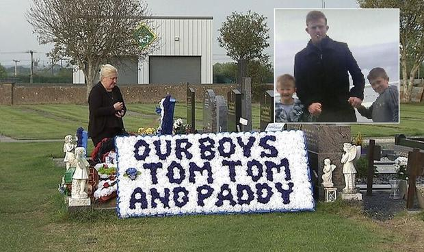 Mum forgives son at centre of murder-suicide (Inset: Jonathan and twins Tom and Paddy)