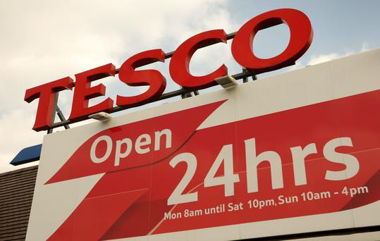 Shares in Britain's biggest supermarket chain, Tesco have plummeted