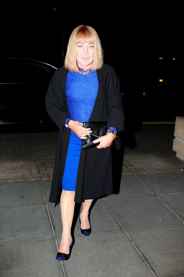 Kellie Maloney, formerly know as boxing promter Frank Maloney, arriving at the Late Late Show at RTE in Dublin. Picture: Arthur Carron