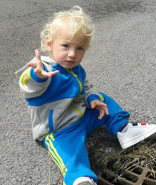 Little toddler Joshua Mangan who was tragically killed in a home incident near Letterkenny. (North West Newspix)