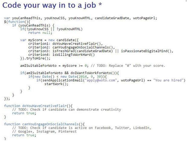 The job written completely in code