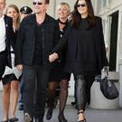 Frontman of U2, Bono, arrives with wife Ali on September 27, 2014 at the Cipriani Hotel in Venice for the wedding of US actor George Clooney with Amal Alamuddin in Venice