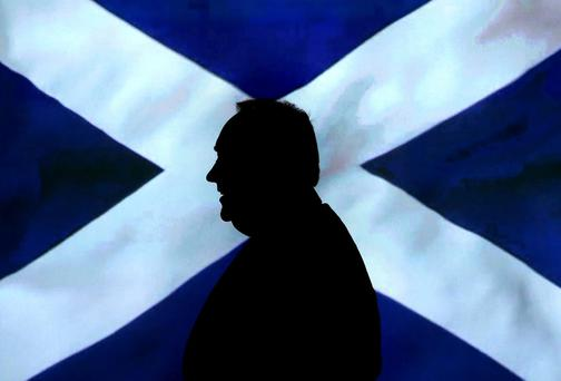 HE HASN'T GONE AWAY: Though the referendum vote was lost, Alex Salmond, and his demagoguery, will remain in politics. Photo credit: Andrew Milligan/PA Wire