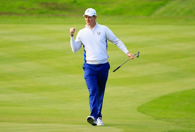 Justin Rose set the tone. Harry How/Getty Images