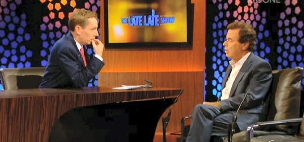 Dodging the question: Former Justice Minister Alan Shatter on Friday night's 'Late Late Show'