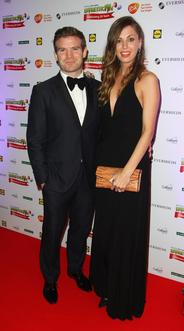 Gordon D'Arcy and Aoife Cogan attend the Barretstown 20th Anniversary Gala Ball at Convention Centre