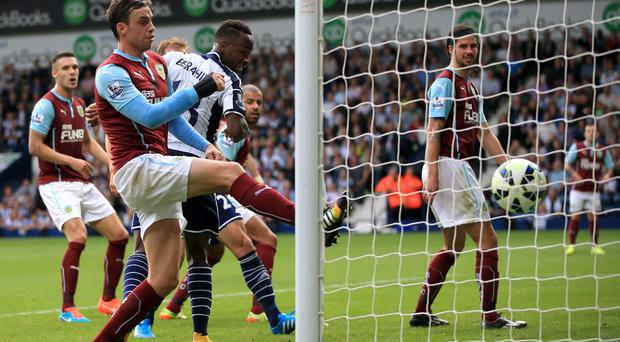 West Bromwich Albion's Saido Berahino scores his sides second goal of the game