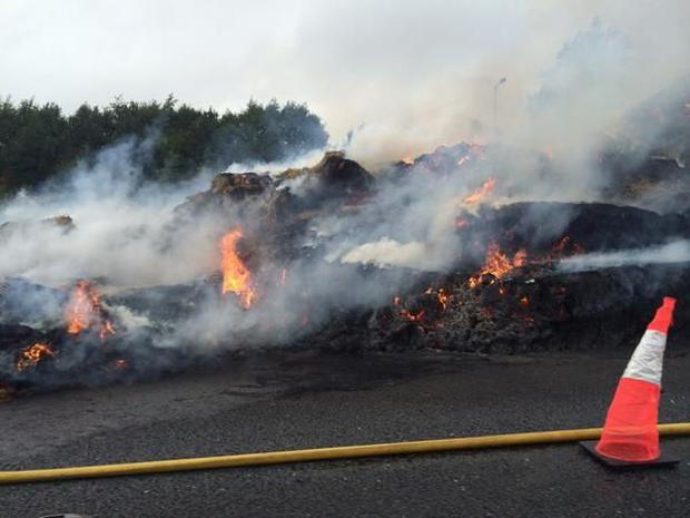 The scene on the M50 this evening