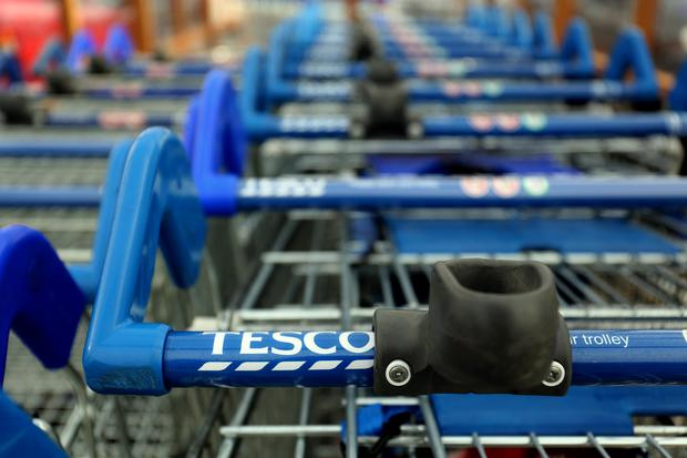 Tesco trolleys. Photo credit Chris Radburn/PA Wire