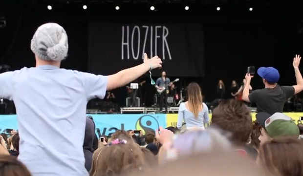 Hozier on stage at Electric Picnic 2014