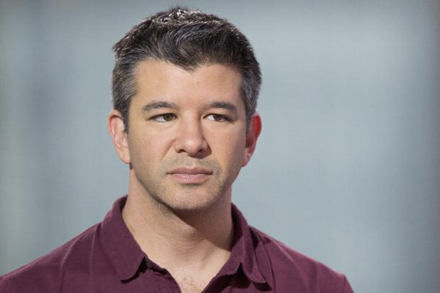 Travis Kalanick, co-founder and chief executive officer of Uber Technologies Inc., listens during a Bloomberg Televisi Photographer: Brent Lewin/Bloomberg via Getty Images