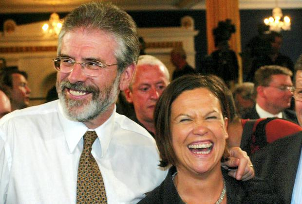 Gerry Adams and Mary Lou McDonald. Photo: Collins
