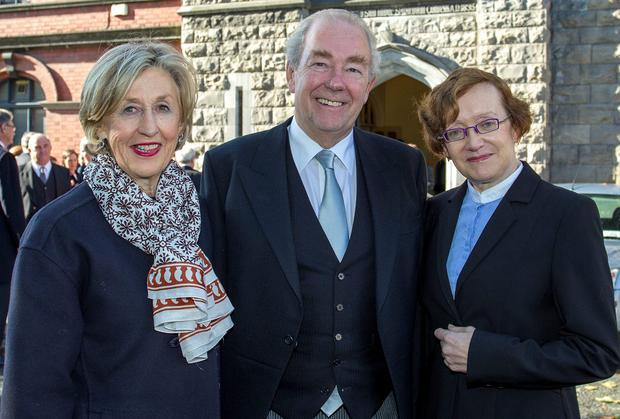 District Court Judge, Mary Collins, President of the High Court Justice Nicholas Kearns and Attorney General, Máire Whelan attending the Red Mass at St Michan's Catholic Church