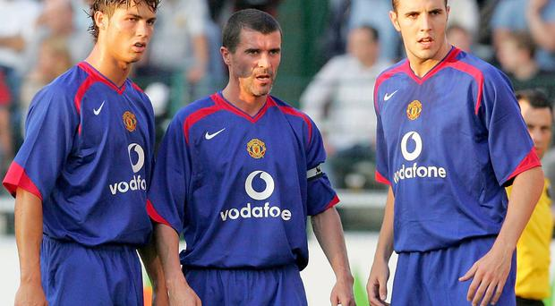 Roy Keane claims John O'Shea had to see the club doctor because he was 'actually having dizzy spells' after facing Cristiano Ronaldo during Manchester United's pre-season friendly against Sporting Lisbon in August 2003. Photo: John Peters/Manchester United via Getty Images