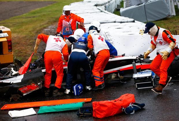 Image result for jules bianchi crash