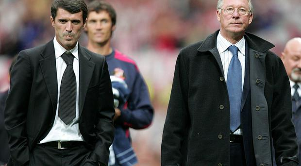 Roy Keane (left) and Alex Ferguson