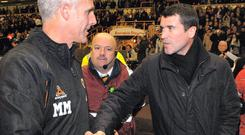 Roy Keane and Mick McCarthy in 2006