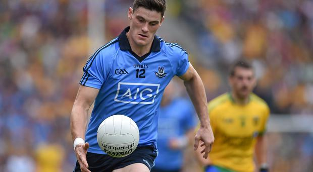 Dublin's Diarmuid Connolly, Dublin, has also been shortlisted for Player of the Year, along with Kerry's star forward James O'Donoghue and Donegal full-back Neil McGee (Brendan Moran / SPORTSFILE)