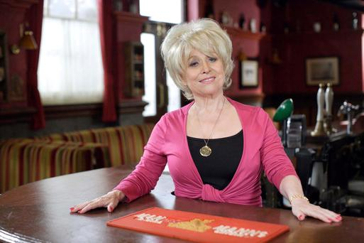 Barbara Windsor as Peggy Mitchell.