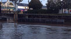 Flooding in Carrigaline, Co Cork (Photo: Denise Calnan)