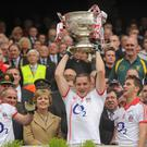 Daniel Goulding lifts the Sam Maguire for Cork in 2010