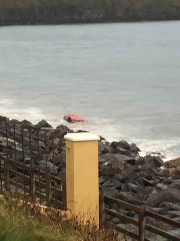 One of the cars at Rossnowlagh beach