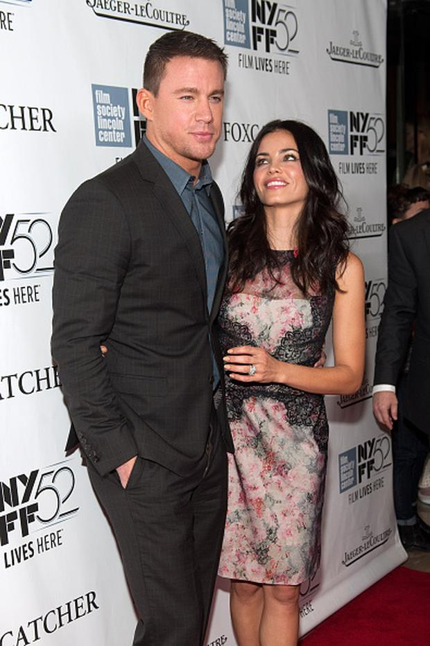 NEW YORK, NY - OCTOBER 10: Channing Tatum (L) and Jenna Dewan attend the