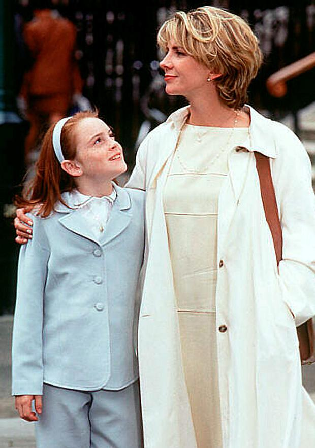 Lindsay Lohan in her breakthrough role in The Parent Trap with Natasha Richardson