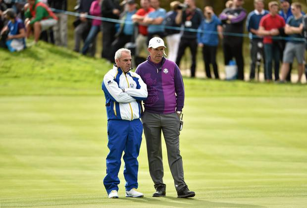 Pádraig Harrington: 'I was thankful he asked me, but I'm more thankful that I was there to witness what he did. To use a good Dublin expression: it was brill.' Photo: Matt Browne / SPORTSFILE