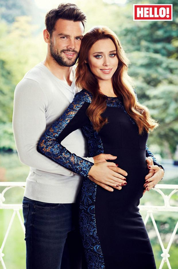 Una Foden and husband Ben Foden in the latest issue of Hello! magazine