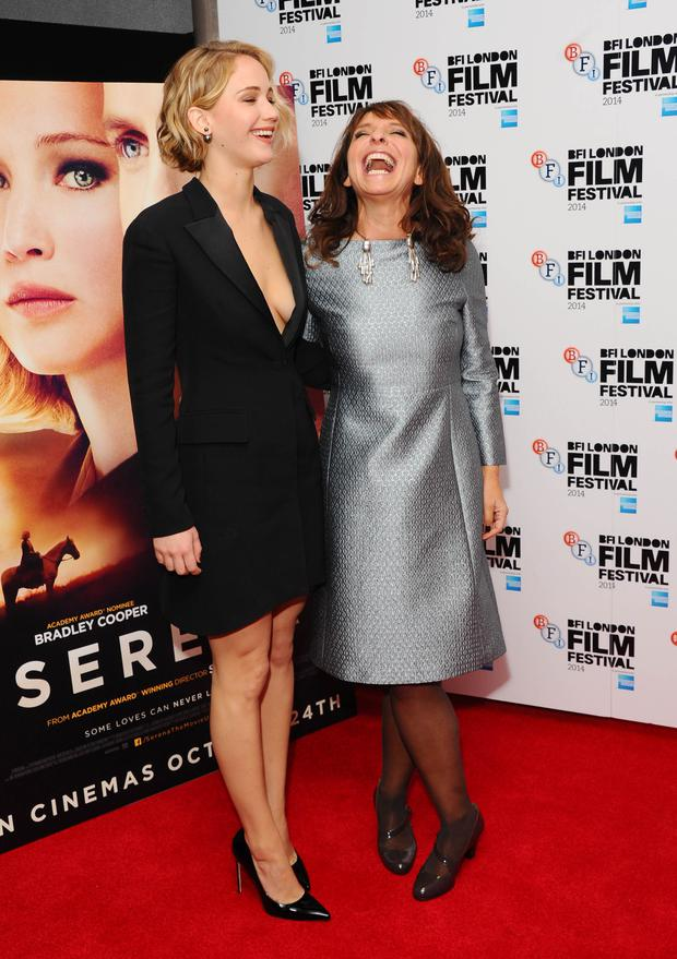 Jennifer Lawrence and director Susanne Bier attend the premiere for