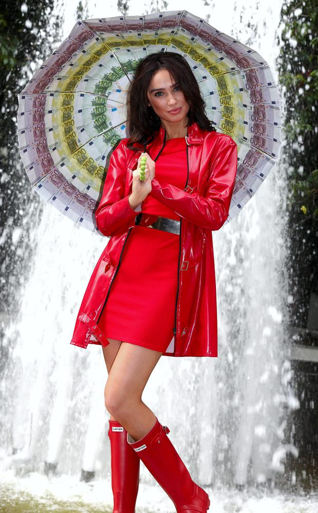 Newly crowned Miss Universe Ireland Lisa Madden is blown away at her first photocall by Wednesday's Lotto jackpot which is a storming €5.5 million! Pic: Mac Innes Photography