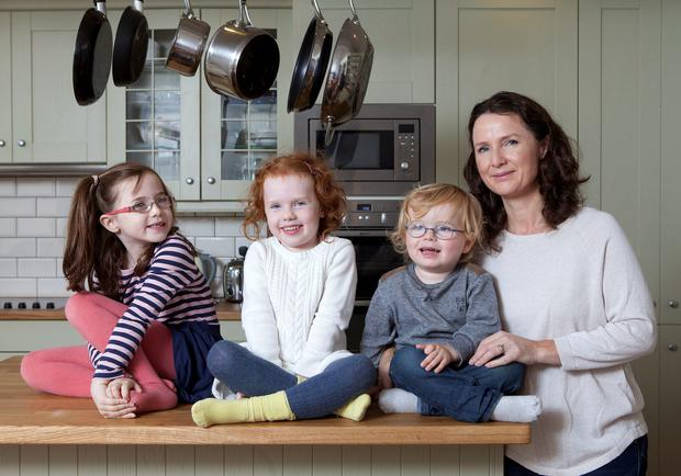 Andrea Mara, pictured with her children Elissa (7), Nia (5) and Matthew (2), hopes Budget 2014 is a turning point.