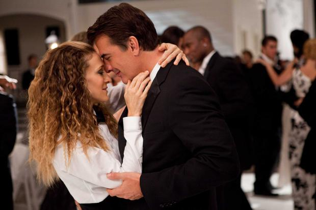 Sarah Jessica Parker as Carrie Bradshaw and Chris Noth as Mr. Big in Sex and the City 2