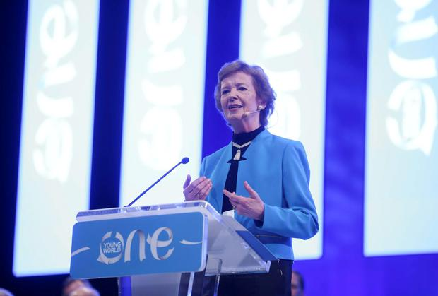 Mary Robinson at the One Young World Summit