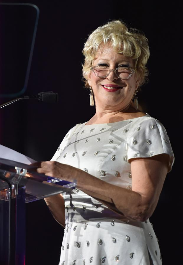 Singer Bette Midler speaks onstage at God's Love We Deliver, Golden Heart Awards