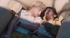Domhnall Gleeson and Jack O'Connell in Unbroken