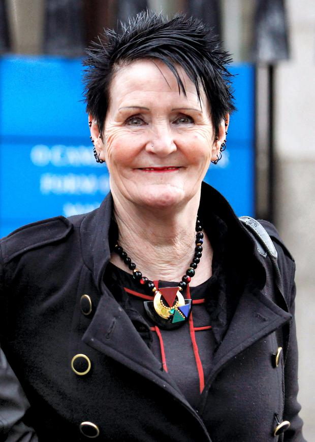 Isabela O'Sullivan (61) of Rathsallagh Grove, Shankill, Co. Dublin leaving court after she was awarded almost €28,000 damages for injuries which she received when she fell off the toilet in her home