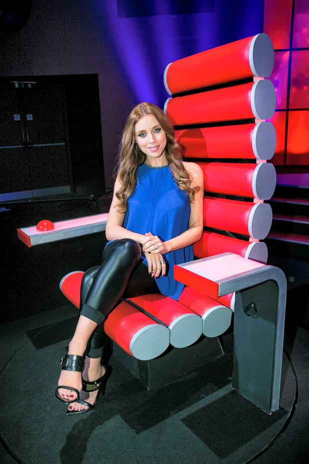 Una Foden during a recording of The Voice of Ireland