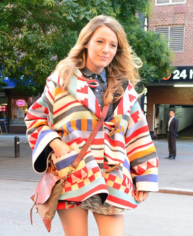 Actress Blake Lively is seen Soho on October 17, 2014 in New York City. (Photo by Raymond Hall/GC Images)