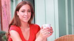 Gillian Fitzpatrick tries out the latest diet craze, a Bulletproof coffee at Punnet Health store in Glasthule, Dublin
