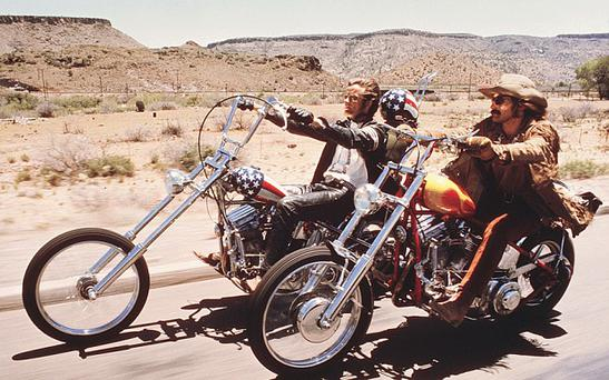 Like Peter Fonda and Dennis Hopper in Easy Rider, John Masterson likes to get out on his Harley