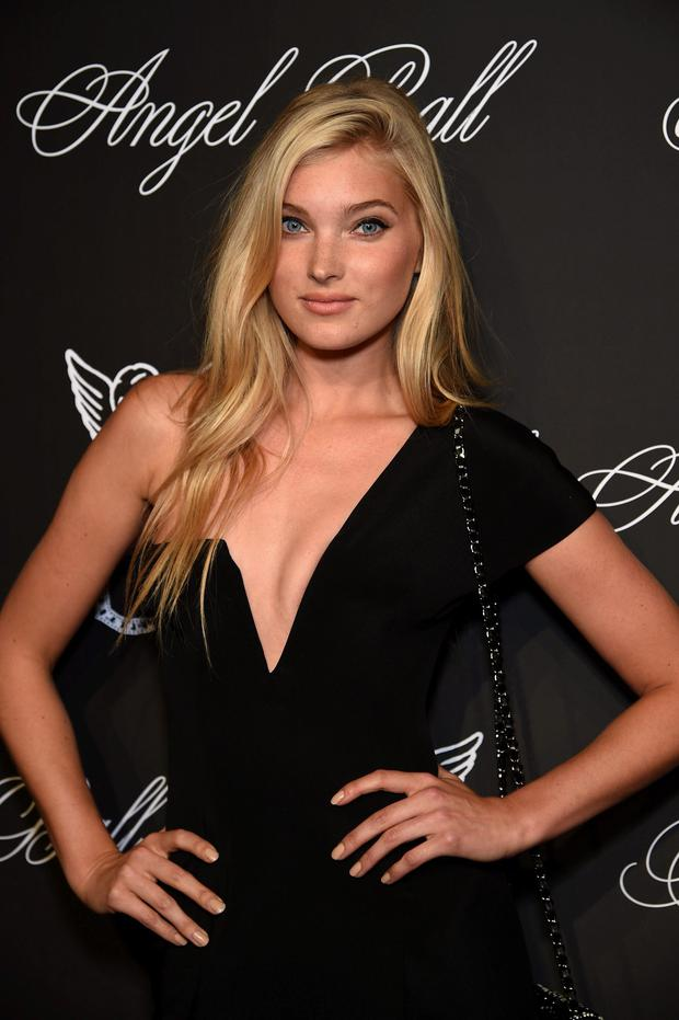 Model Elsa Hosk attends Angel Ball 2014 hosted by Gabrielle's Angel Foundation at Cipriani Wall Street