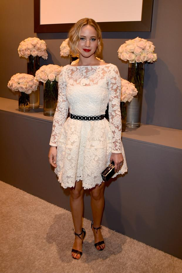 Actress Jennifer Lawrence attends ELLE's 21st Annual Women in Hollywood Celebration at the Four Seasons Hotel