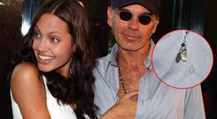 Angelina Jolie (L) with Billy Bob Thornton in 2001